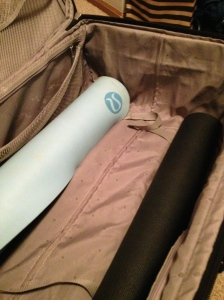 Priority packing: yoga mats