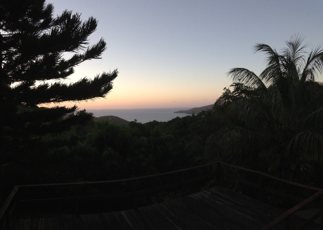 Sunset panoramic view