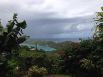 Rainshower heading toward Magen's Bay