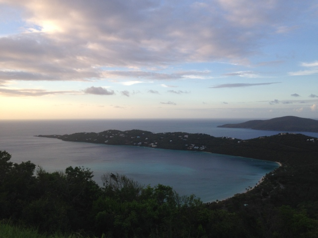 Sunset looking over Magen's Bay