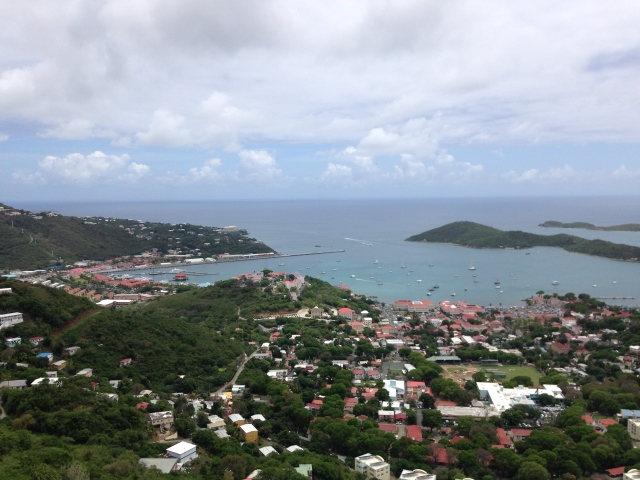View of Charlotte Amalie and harbor