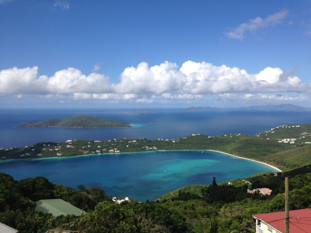 View of Magen's Bay, Hans Lollick, the Tobagos, Jost Van Dyke