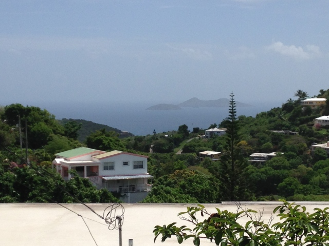 Great and Little Tobago on a hazy day.