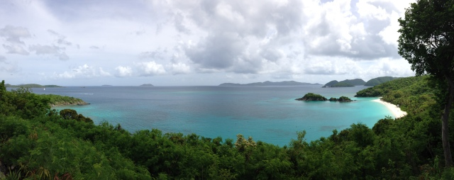 Panoramic of Trunk Bay