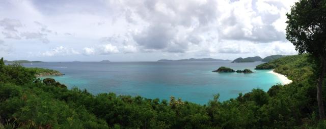 Panoramic of Trunk Bay