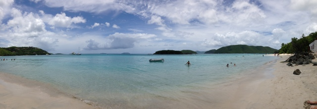 Panoramic of Cinnamon Bay
