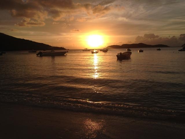 Memorial Day sunset at Hull Bay Beach