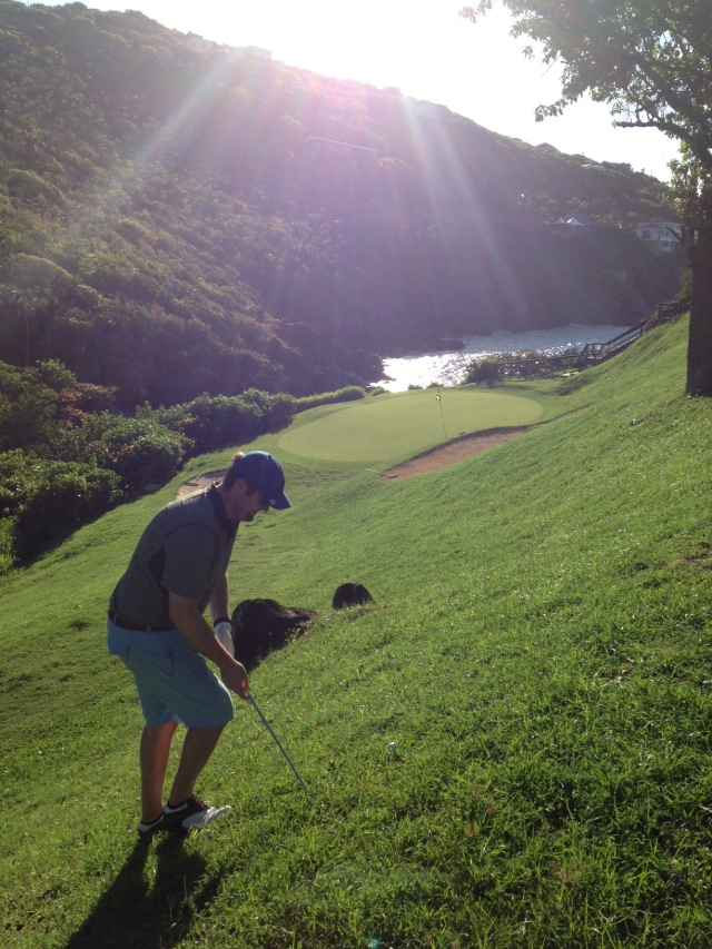 "Dan golfing the ""Devil's Triangle"" at Mahogany Run"