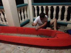 The kayak.