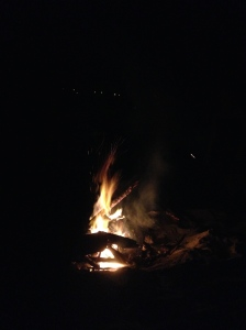 Bonfire at Hull Bay