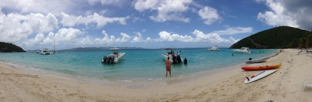 Panoramic view of White Bay, Jost Van Dyke